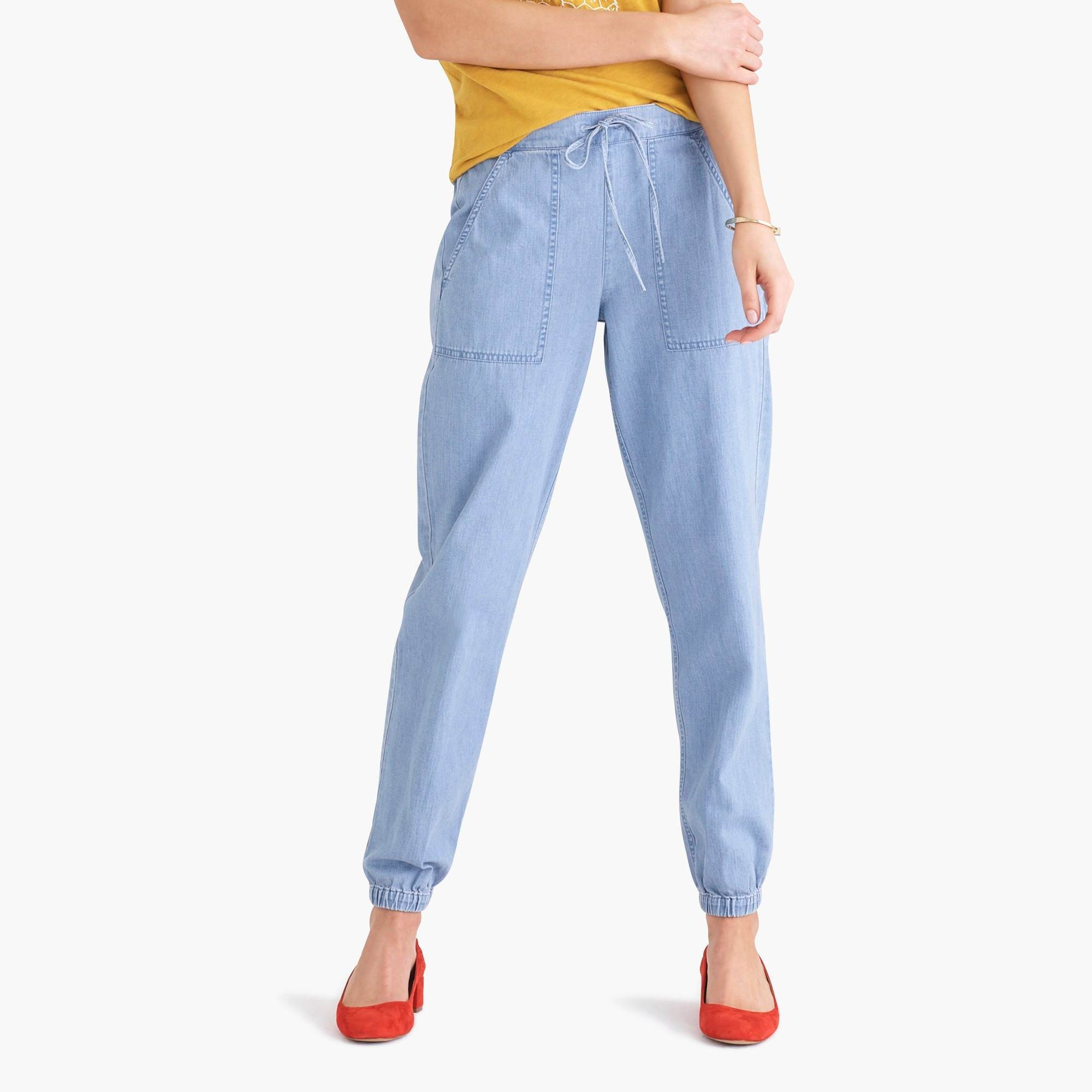 factory womens Utility chambray jogger