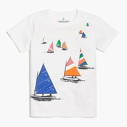 factory boys Boys' sailboats graphic T-shirt