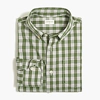 Image 1 for Boys' long-sleeve flex washed shirt in gingham