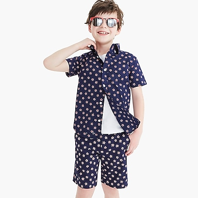 factory boys Boys' short-sleeve shirt in print