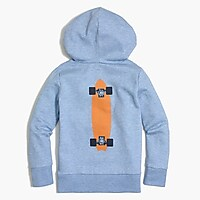 Boys' hoodie sweatshirt in skateboards