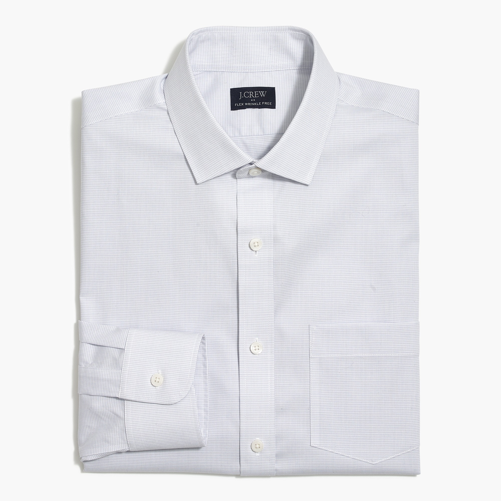 factory mens Slim Thompson flex wrinkle-free dress shirt in check