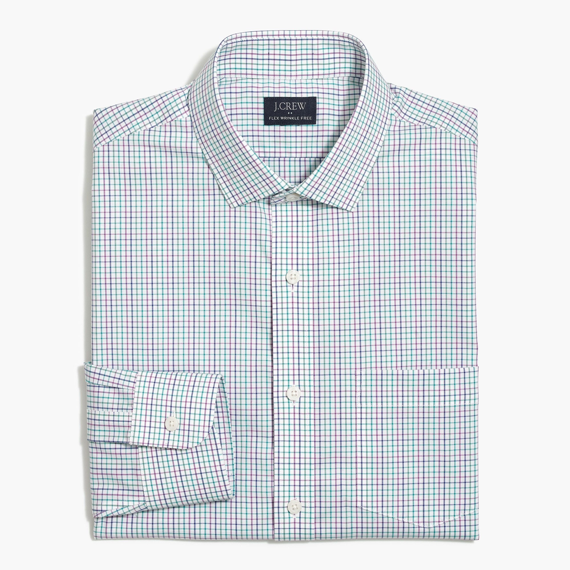 Slim Thompson flex wrinkle-free dress shirt