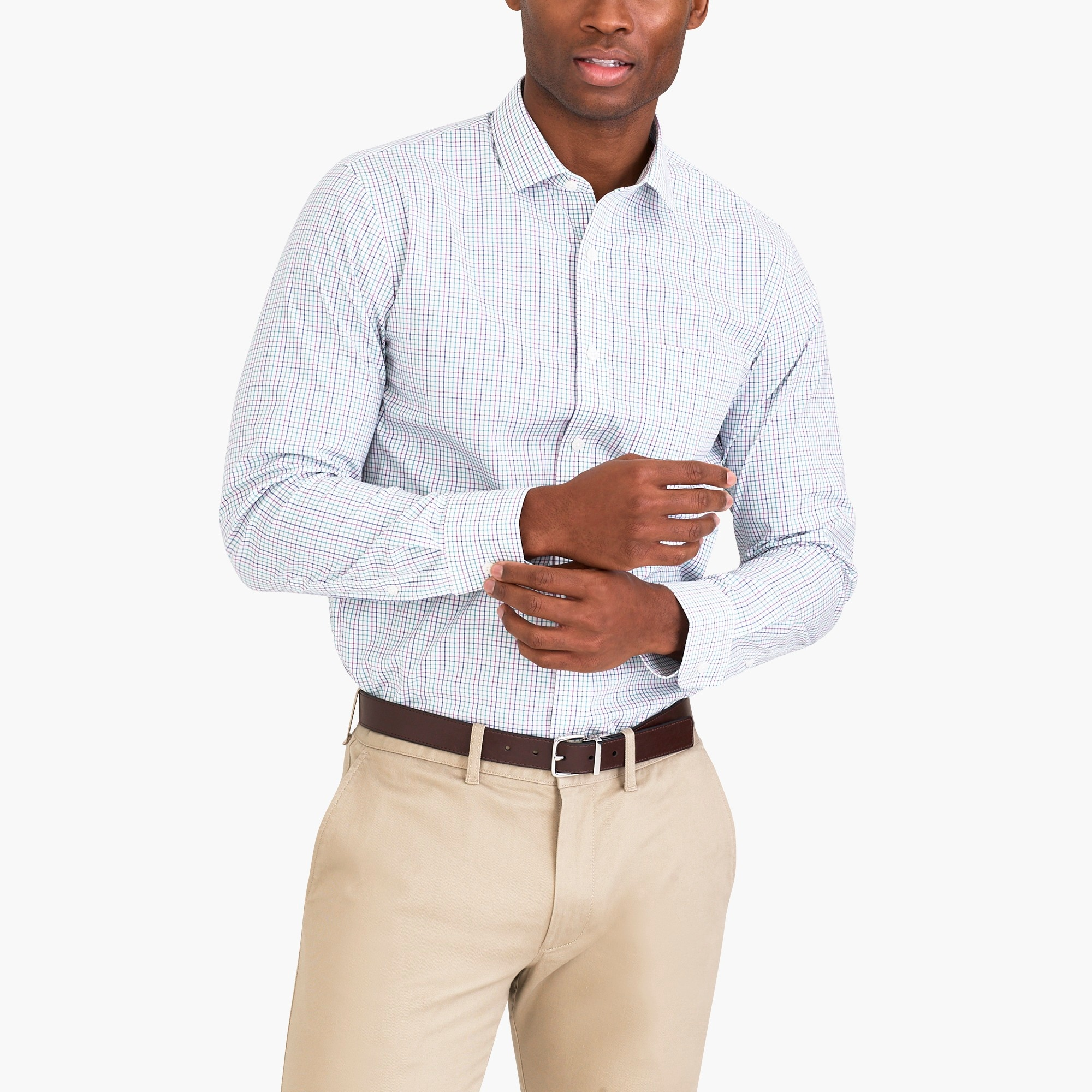 j.crew factory: slim thompson flex wrinkle-free dress shirt