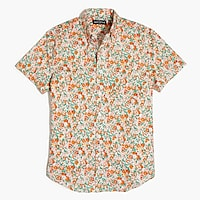 Image 2 for Floral printed slim flex casual short sleeve shirt