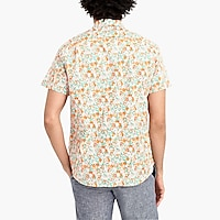 Image 3 for Floral printed slim flex casual short sleeve shirt