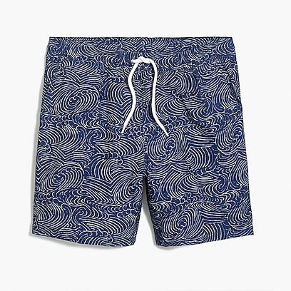"6"" flex printed swim trunk"