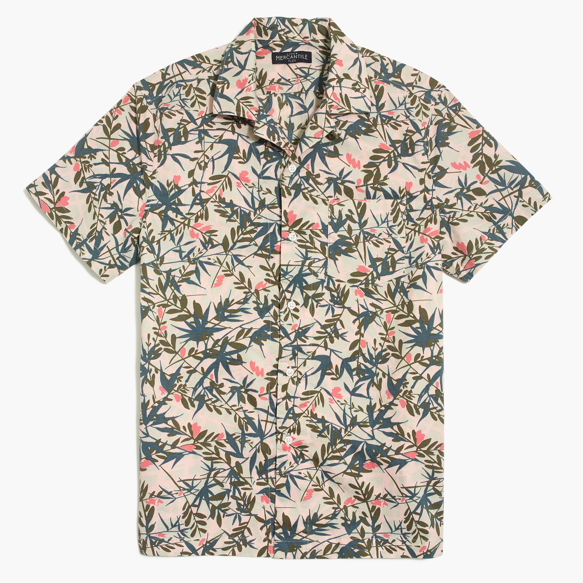 Image 2 for Printed camp collar casual shirt