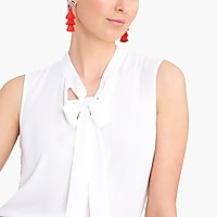 Image 3 for Sleeveless drapey tie-neck top