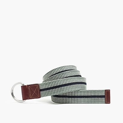 factory mens Fabric belt in stripe