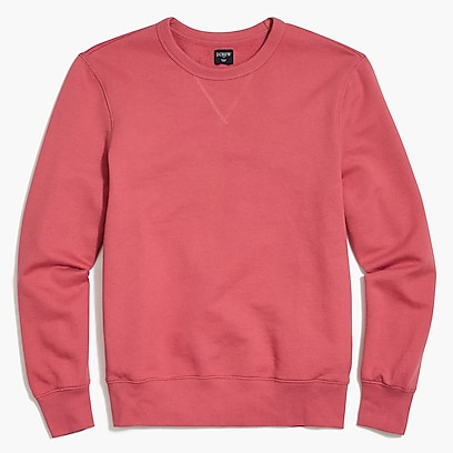 Terry crewneck sweatshirt