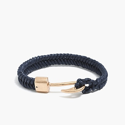 factory mens Hook and cord bracelet