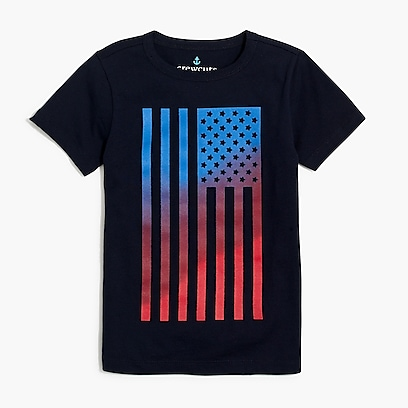 factory boys Boys' flag graphic T-shirt