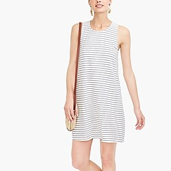Striped twist-back dress