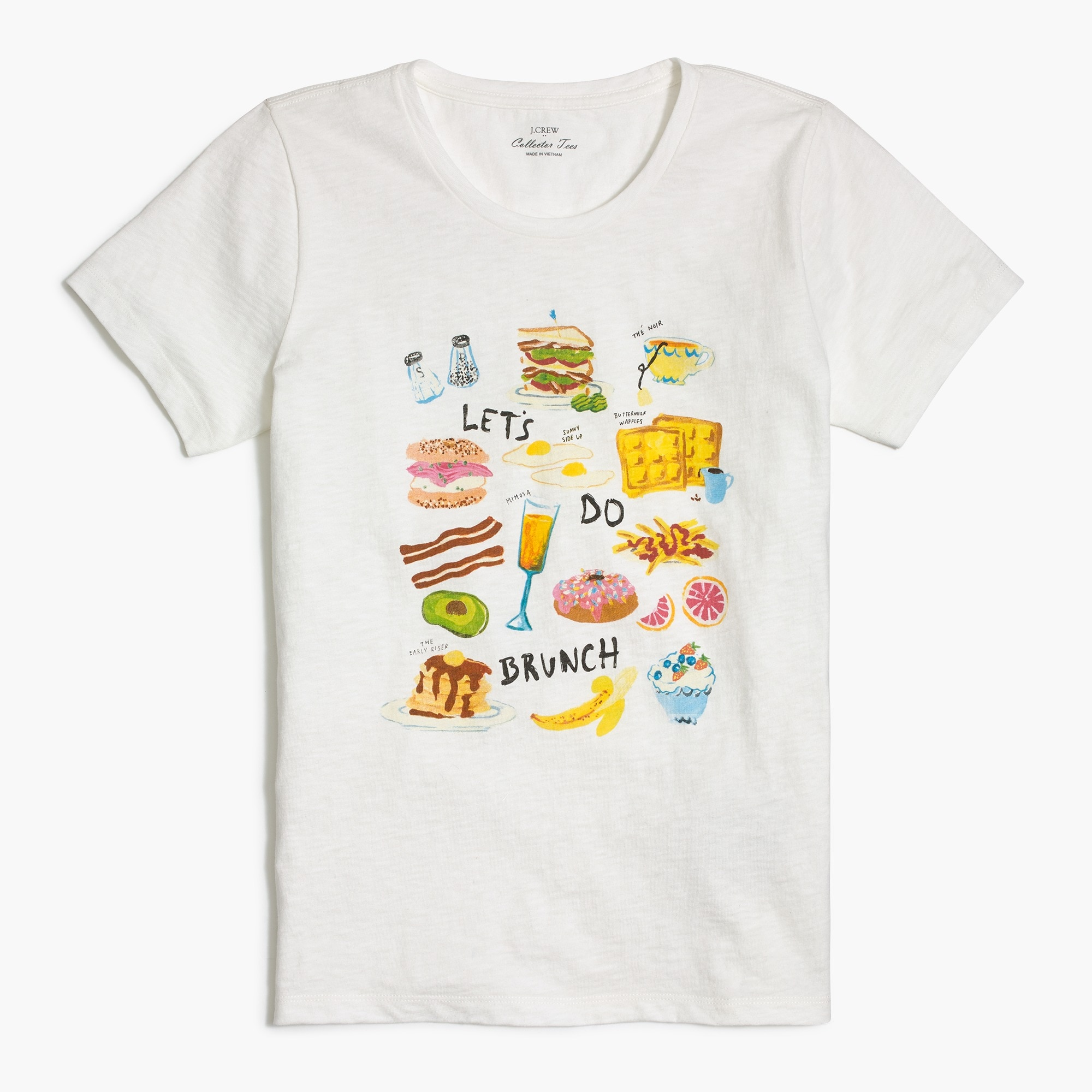 "factory womens ""Let's do brunch"" T-shirt"
