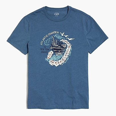 factory mens Atlantic charter T-shirt
