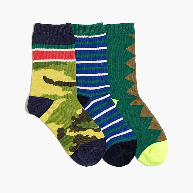j.crew factory: boys' trouser sock three-pack