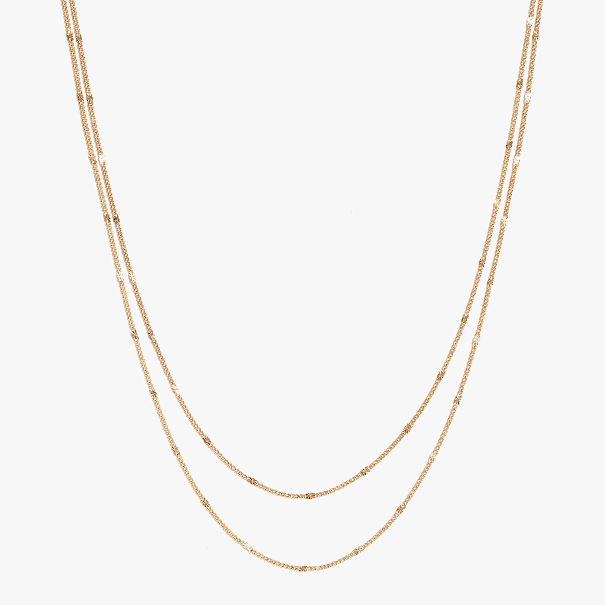 factory womens Delicate two-layer necklace