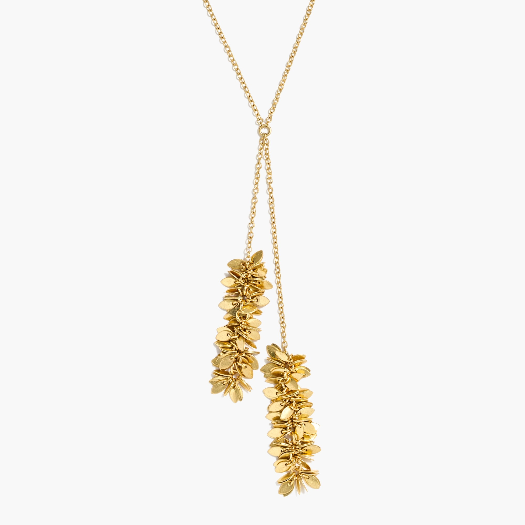 factory womens Glittering gold Y-necklace