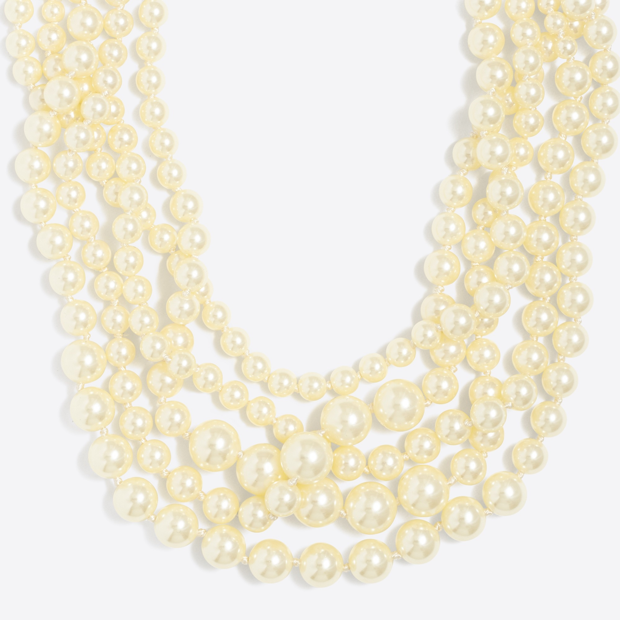 factory womens Multistrand pearl necklace