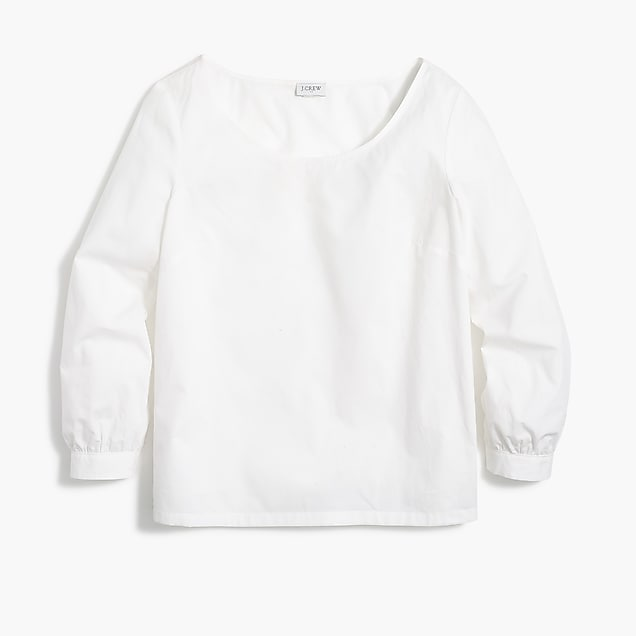 j.crew factory: cotton poplin peasant top
